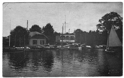 Erstes Boothaus 1924 am Huntebad