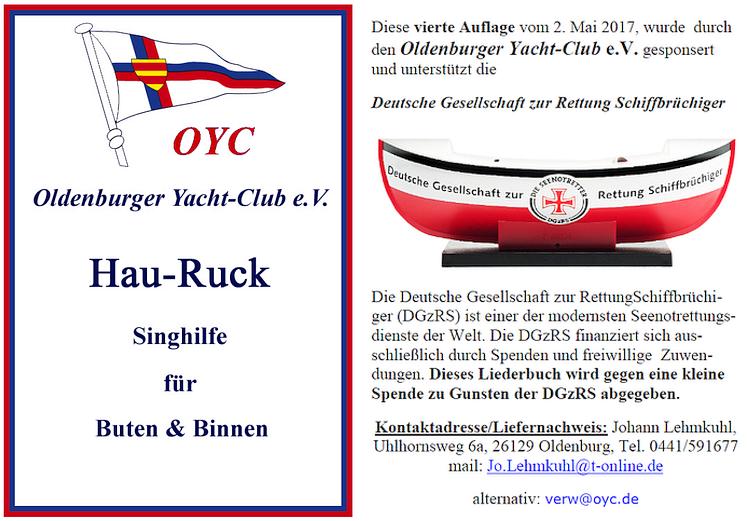 Liederbuch Oldenburger Yacht Club Ev